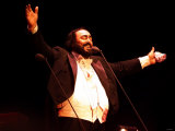 Luciano Pavarotti Concert at Stormont Belfast During the Sell-Out Performance Fotografie-Druck