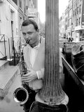 Jazz Performer Stan Getz at Ronnie Scott's Jazz Club, Master Tenor Saxophonist Photographie