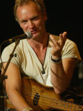 Sting Performing at the John Marley Centre, Newcastle Fotografisk tryk