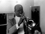 Louis Armstrong Jazz Musician - May 1956 During His First Concert in Great Britain Photographie