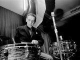 1960s Jazz Performer Buddy Rich, Playing Drums Fotografisk trykk