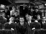 The West Ham United Team Coach En-Route to Play TSV Munich Fotografie-Druck
