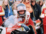 Barry Sheene World Motor Cycling Champion October 1977 Fotografisk tryk