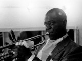 Louis Armstrong Jazz Musician - May 1956 During His First Concert in Great Britain Reproduction photographique