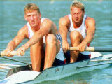 Mathew Pinsent and Steve Redgrave Win the Coxless Two Man Rowing Competition Photographic Print