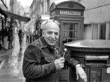 "Actor Telly Savalas in London For a Few Days to Film Scenes in Film Called ""Inside Out"" Photographic Print"