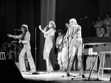 Abba Swedish Pop Band November 1979 on Stage at Wembley Arena Fotografiskt tryck
