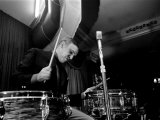Jazz Performer Buddy Rich, Drummer on Kit, 1960s Photographie