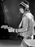 Ronnie Wood, Guitarist with Rod Stewart and the Faces, in Concert in the U.S.A. in April 1975 Photographic Print