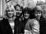 Abba Swedish Pop Band in the Studio, April 1974 Fotografisk trykk