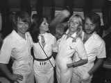 Pop group Abba Promote Their New Album Arrival Fotografiskt tryck