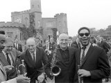 Jazz Man Dizzy Gillespie at Fort Belvedere Near Ascot Buck Clayton and Bud Freeman Photographic Print