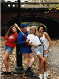 Benny Hill Comedian in Park with American Hill Angels Photographic Print