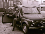 Peter Griffiths Arriving at the Conservative Club at Smethwick in His Fiat Car Photographic Print