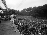 Mick Jagger Sings on Stage at Free Rolling Stones Concert in Hyde Park, London Photographic Print