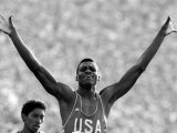 Carl Lewis of the United States of America Wins Gold in the 100 Meters Final Photographic Print