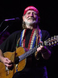 Country Singer Willie Nelson in Concert at Waterfront Hall Fotografisk tryk