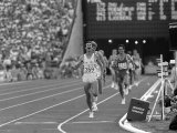 Sebastian Coe Winning 1500 MeterFinal at the Los Angeles Olympics in 1984 Photographie