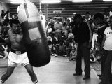 Muhammed Ali Training For the Fight with Leon Spinks Reproduction photographique