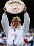 Martina Navratilova Wins 9th Time in Singles Title Championships at Wimbledon Photographic Print