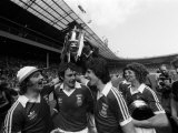 Ipswich Team Celebrate with the Trophy After Beating Arsenal in FA Cup Final Photographic Print