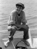 Actress Jane Birkin Wearing a Wooly Jumper and Cap at the Cannes Film Festival, May 1976 Photographic Print