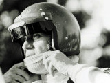Steve McQueen McQueen is Fascinated by Speed and Motorbikes in Particular Fotodruck