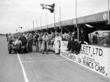 1951 Silverstone For Raz Grand Prix Pits Stop Nino Farina Fotografisk tryk