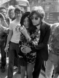 "Yoko Ono Launches Her New Book ""Grapefruit"" Accompanied by Her Husband, Former Beatle John Lennon Photographic Print"