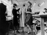 Mary Quant British Fashion Designer at Her Design Studio April 1964 Photographic Print