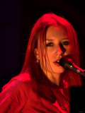 Tori Amos at Soundcheck For Her Concert at Clyde Auditorium. December 2001 Photographic Print
