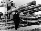 Sir Winston Churchill Aboard the Prince of Wales During the Atlantic Crossing Photographic Print