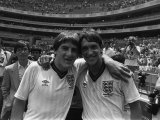 Peter Beardsley and Gary Lineker After the Final Whistle, 1986 World Cup Photographic Print