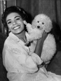 Shirley Bassey with Her Pet Poodle Pictured During a Visit to Cardiff - 19th Sept 1958 Photographic Print