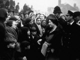 Queen Mother Visits Homeless People in Sheffield After German Bombing 1941 Photographic Print