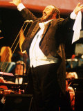 Luciano Pavarotti Opera Singer in Hyde Park Concert Photographic Print