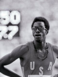 Edwin Moses After Winning the 400M Hurdles Final in Montreal Photographic Print