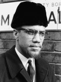 Converted Muslim and Former Spokesperson For Nation of Islam Movement Malcolm X Visiting Smethwick Fotoprint