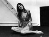 Jane Birkin Actress Sitting on Floor January 1970 Photographic Print