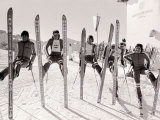 1976 Olympic Games British Ski Team Fotografie-Druck