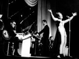Cardiff's Shirley Bassey During Show at the Capitol Theatre on Stage with the John Barry Orchestra Photographic Print