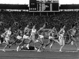 Sebastion Coe and Steve Ovett at Moscow Olympics 1980 Fotografisk tryk