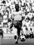World Cup Group 3 Match in Guadalajara Mexico. 7th June 1970 England 0 Vs Brazil 1, Brazil's Pele Papier Photo