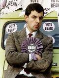 Rowan Atkinson Actor as Mr Bean in His Comic Relief Vote Bean Party Photographic Print