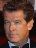 Pierce Brosnan Arrives For the British Academy Film Awards at the Odeon Leicester Square Photographic Print
