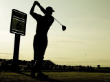 Tiger Woods During Practise of the Open 2004 at Royal Troon Photographic Print