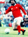 Former Manchester United Football Player George Best Playing in Sir Matt Busby Testimonial Photographic Print