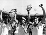 Jubilant West Ham Players Celebrate Their Win over Arsenal Photographic Print