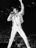 Queen Rock Group in Concert at Wembley Stadium Photographic Print