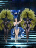 Kylie Minogue in Concert at the NEC, Birmingham, Showgirl Tour, 2005 Photographic Print